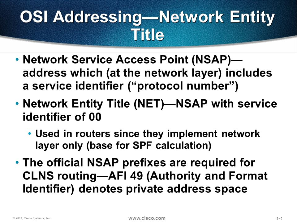 OSI Addressing—Network Entity Title