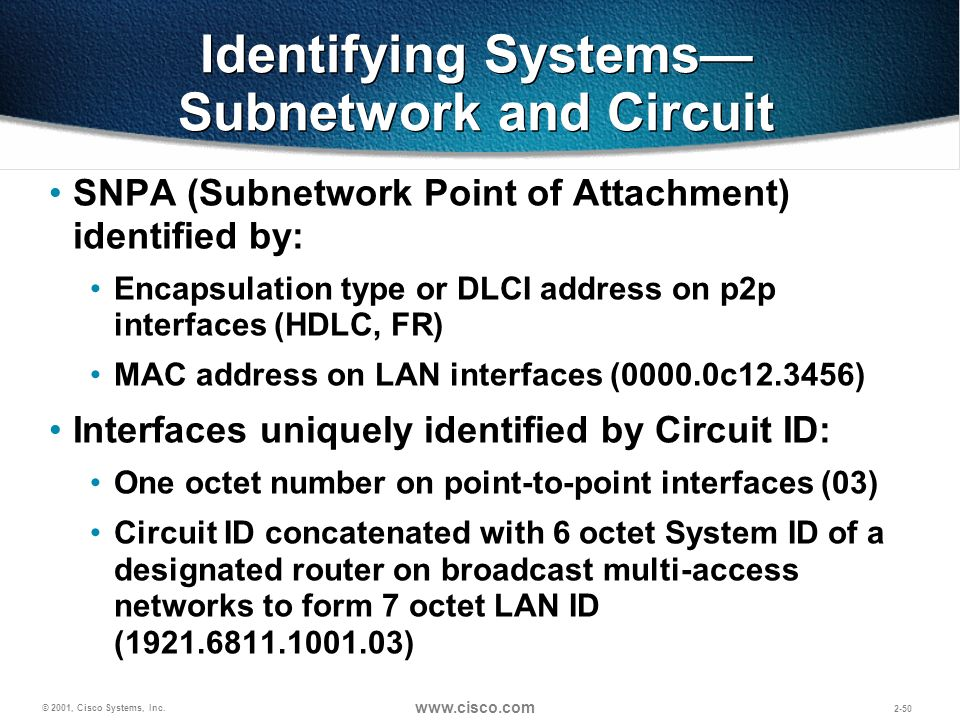 Identifying Systems—Subnetwork and Circuit