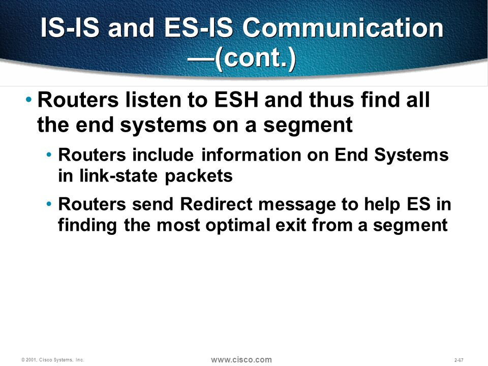 IS-IS and ES-IS Communication —(cont.)