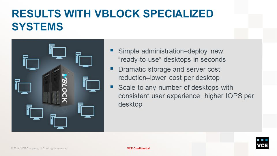 Results with Vblock Specialized Systems