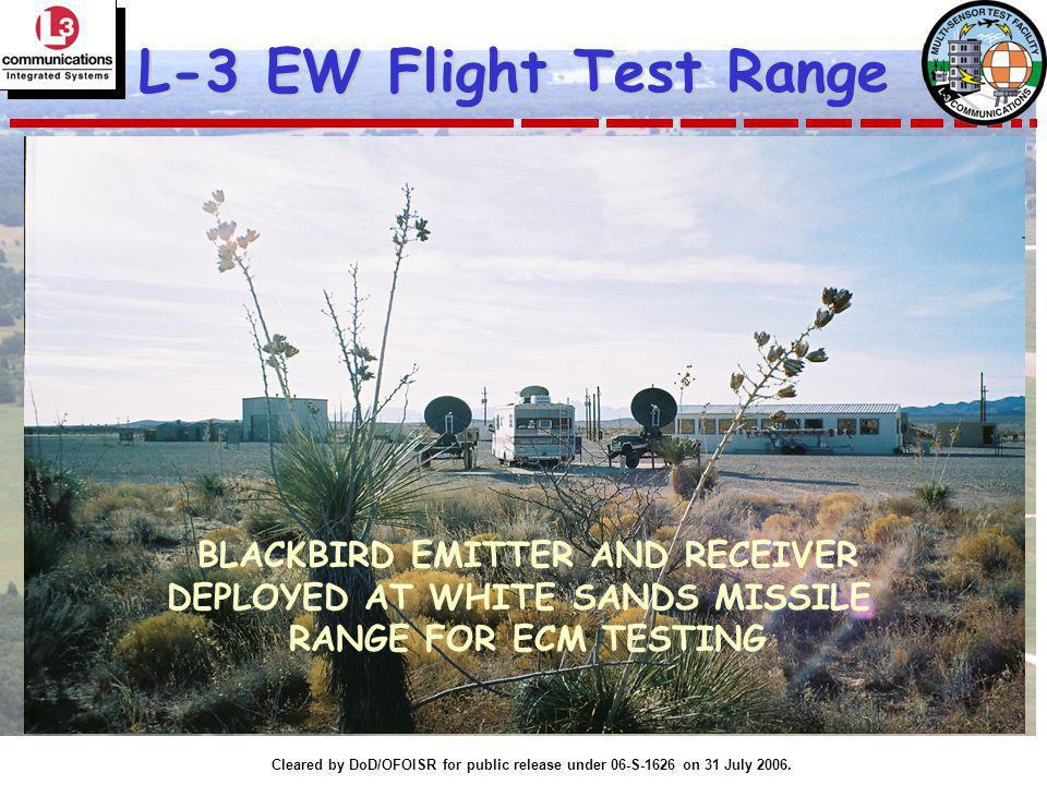 BLACKBIRD EMITTER AND RECEIVER DEPLOYED AT WHITE SANDS MISSILE