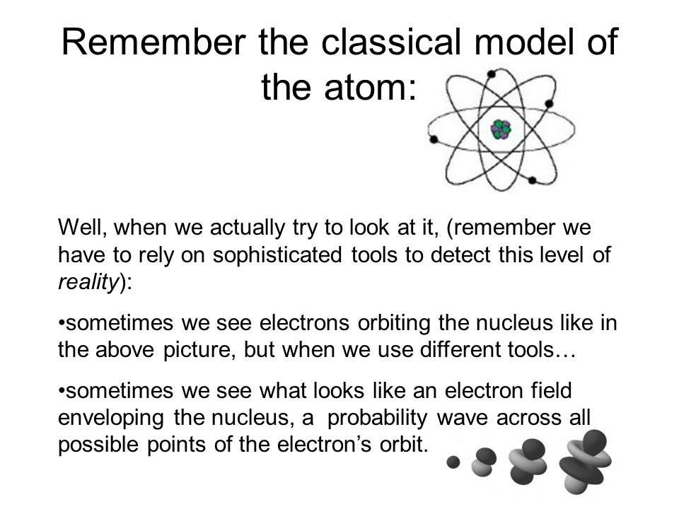 Remember the classical model of the atom: