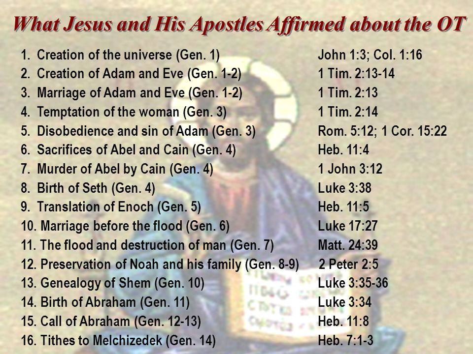 What Jesus and His Apostles Affirmed about the OT