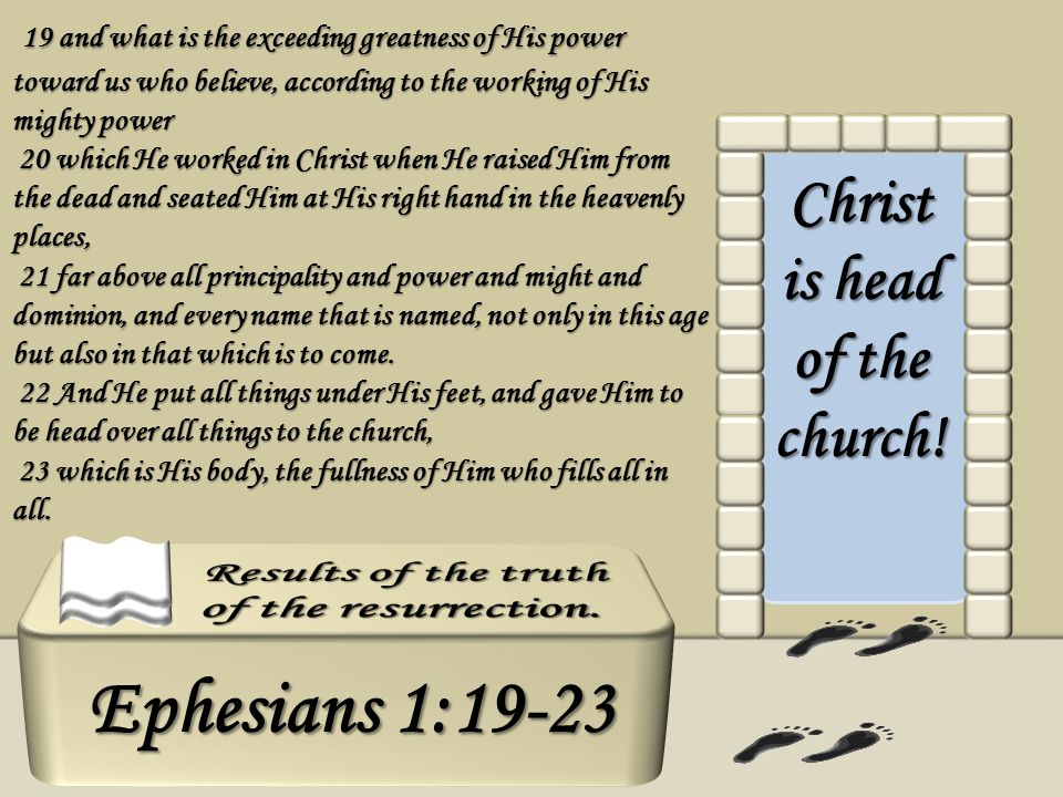 Christ is head of the church!