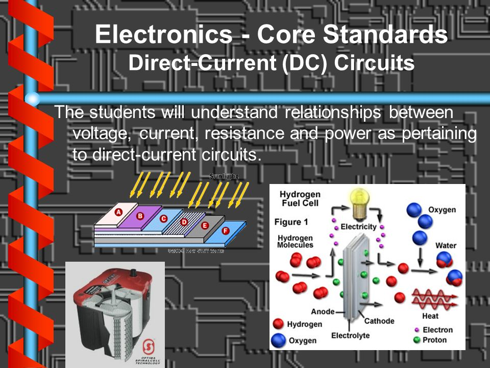 Electronics - Core Standards Direct-Current (DC) Circuits