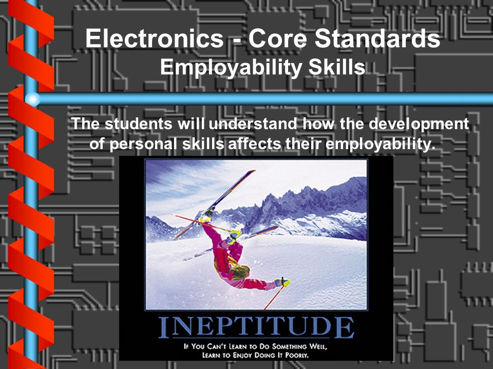Electronics - Core Standards Employability Skills