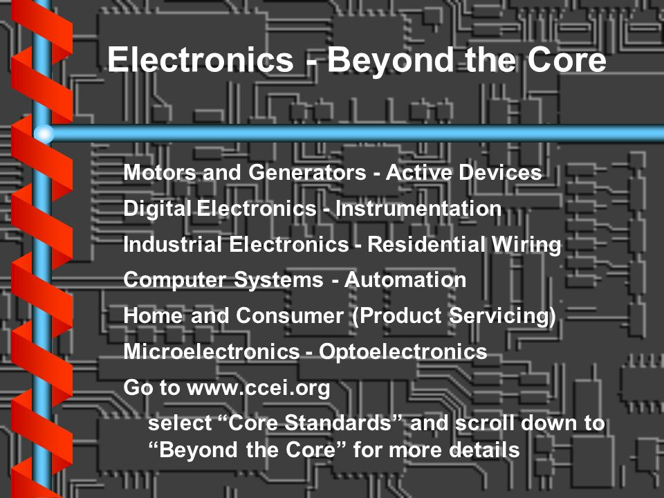 Electronics - Beyond the Core