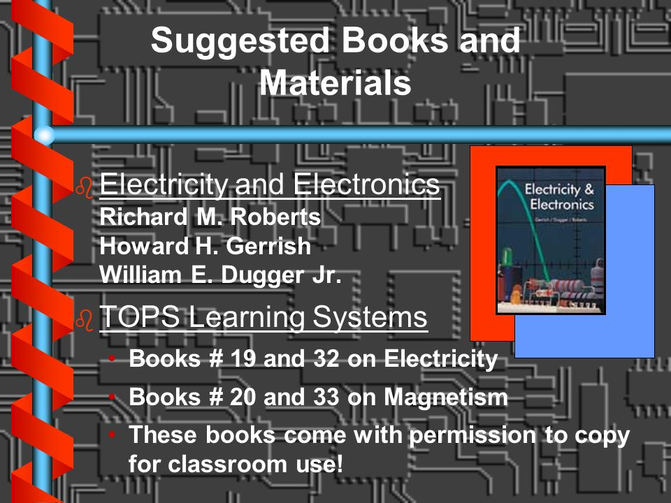 Suggested Books and Materials