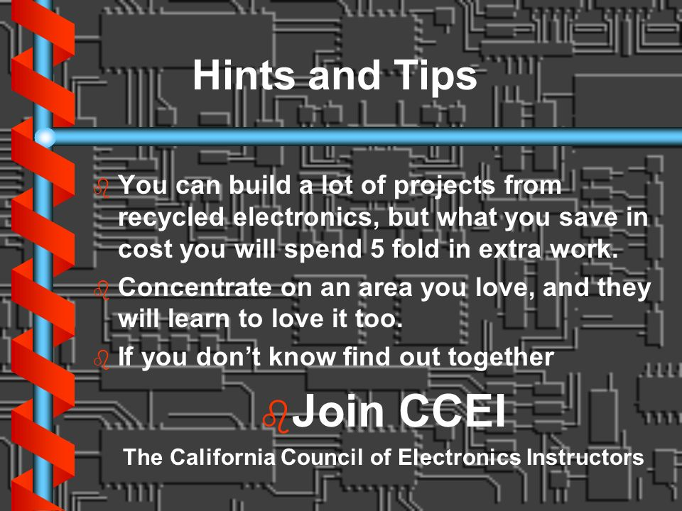 The California Council of Electronics Instructors