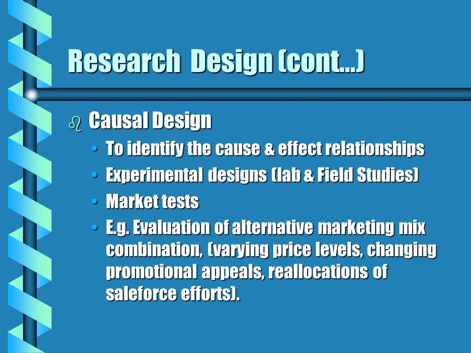 Research Design (cont...)