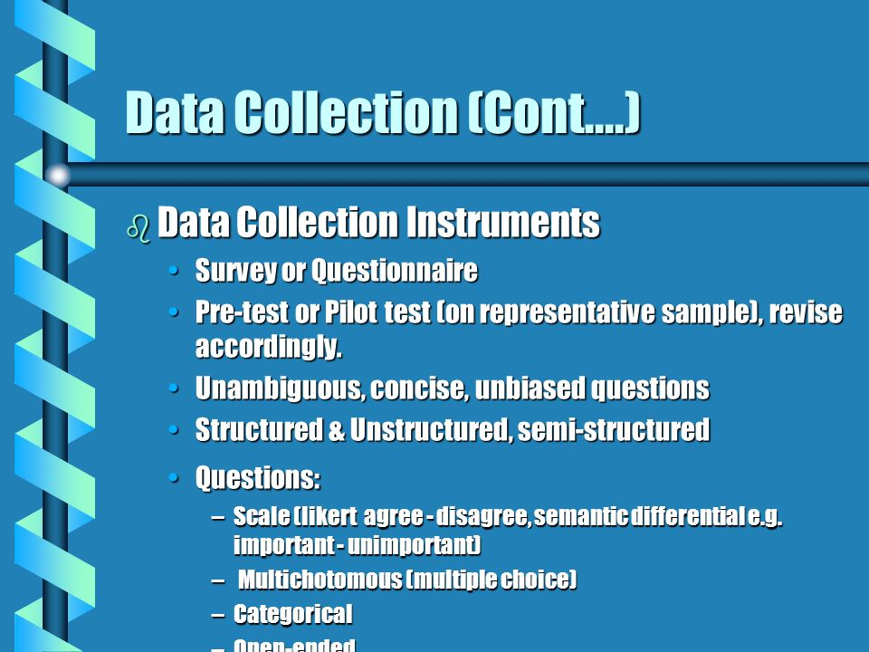 Data Collection (Cont....)