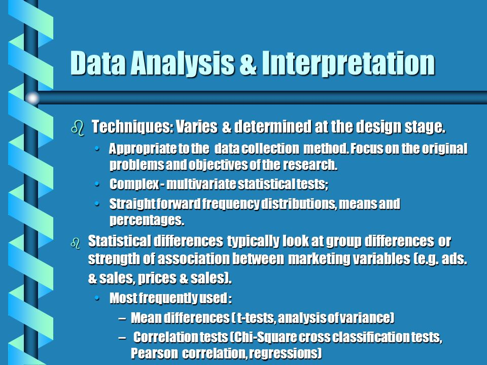 Data Analysis & Interpretation