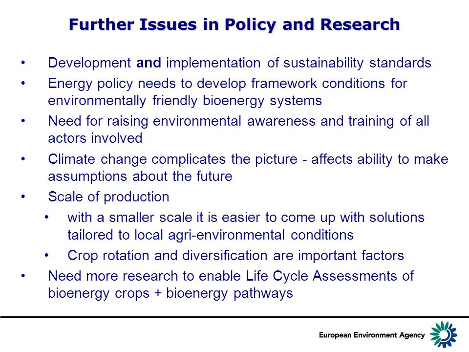 Further Issues in Policy and Research