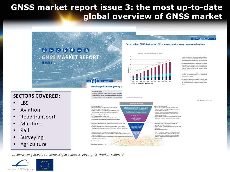 GNSS market report issue 3: the most up-to-date global overview of GNSS market
