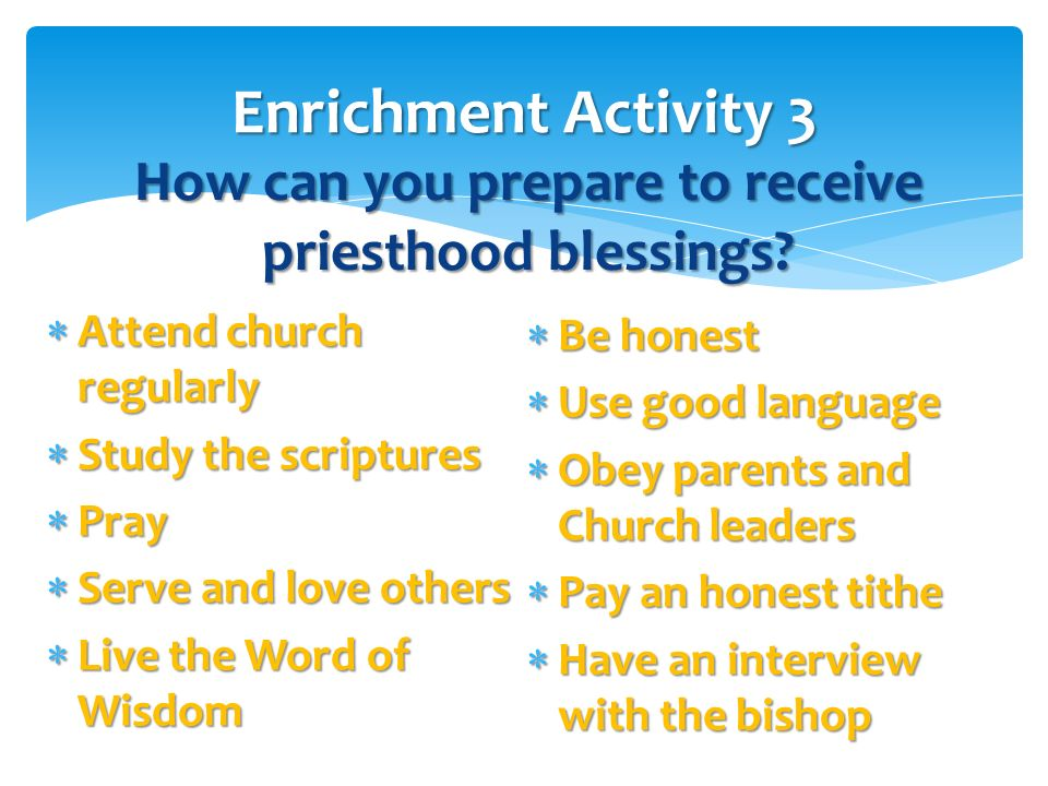 How can you prepare to receive priesthood blessings