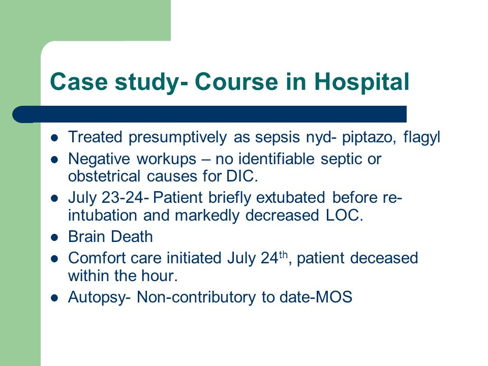 Case study- Course in Hospital