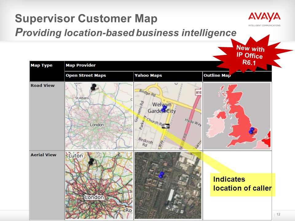Supervisor Customer Map Providing location-based business intelligence