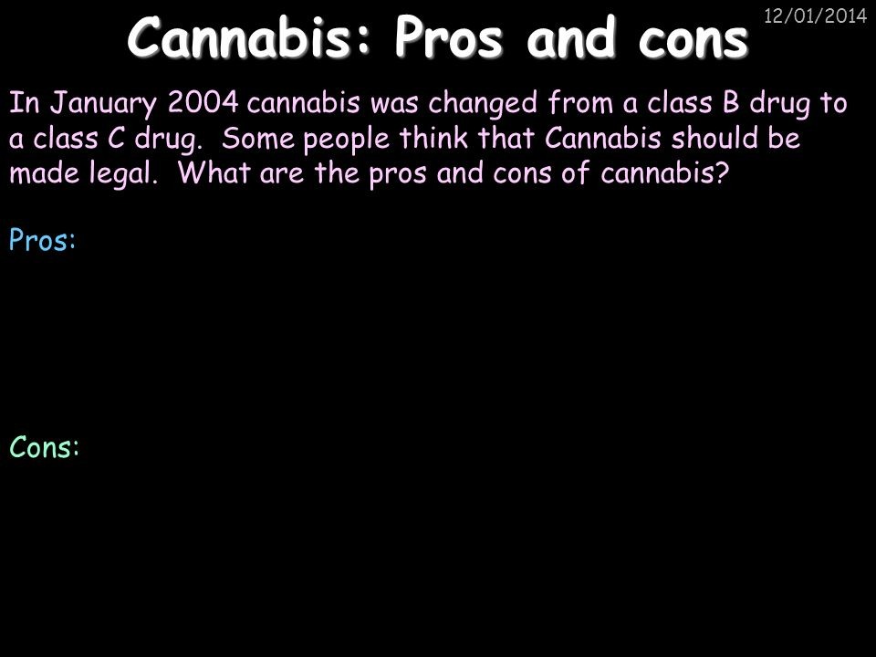 Cannabis: Pros and cons