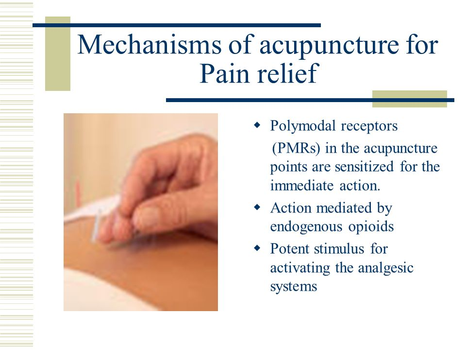 Mechanisms of acupuncture for Pain relief