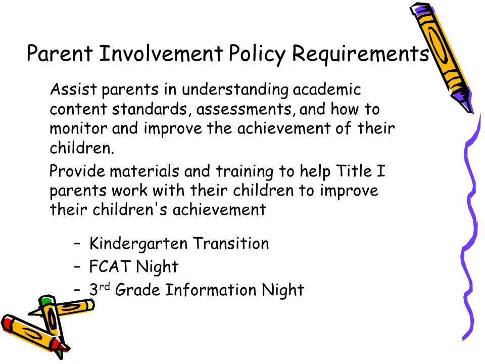 Parent Involvement Policy Requirements