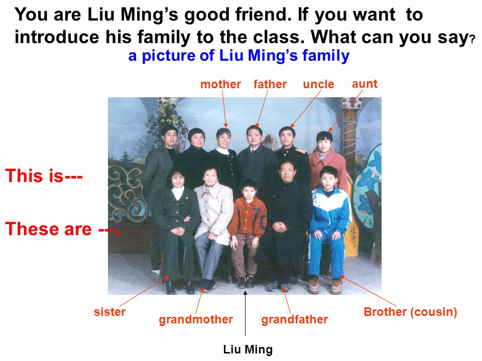 You are Liu Ming's good friend