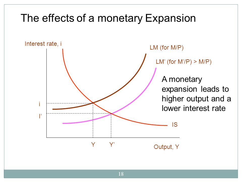The effects of a monetary Expansion