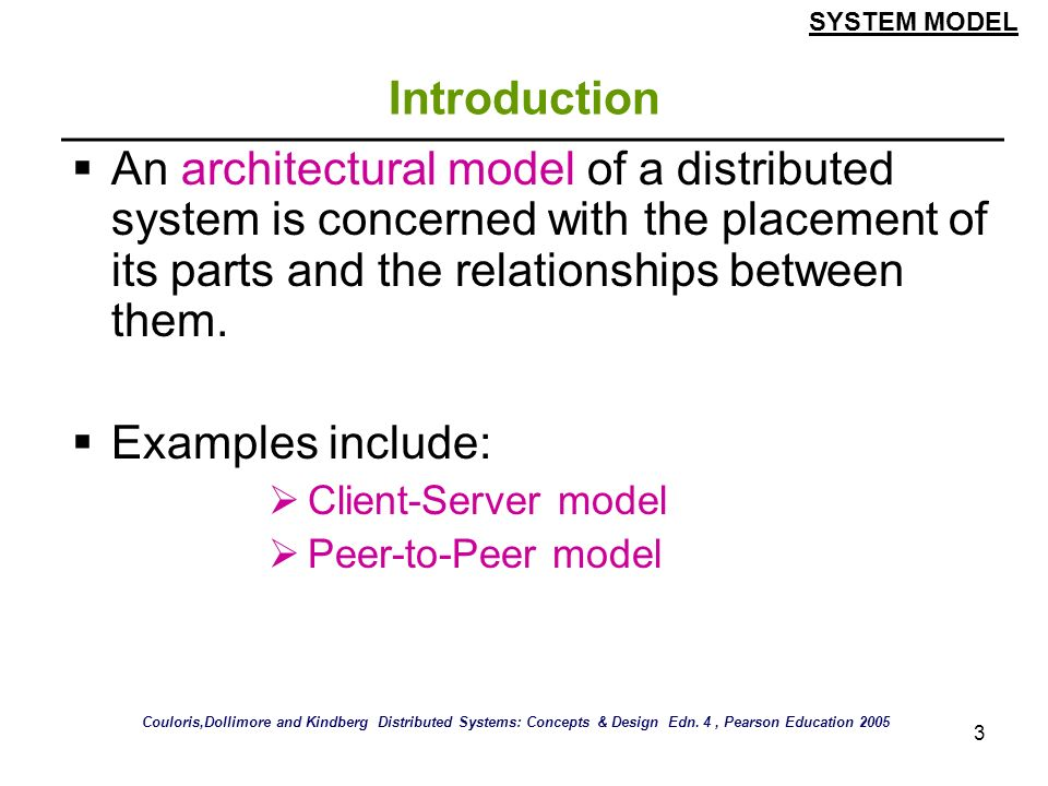 SYSTEM MODEL Introduction.