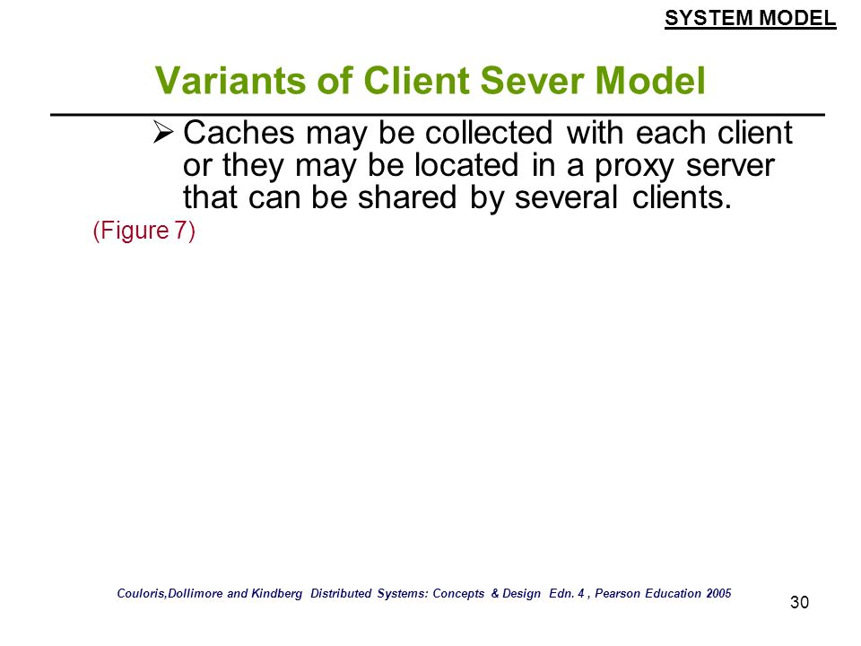 Variants of Client Sever Model