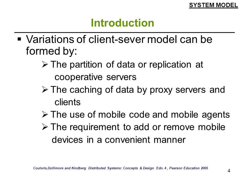 Variations of client-sever model can be formed by: