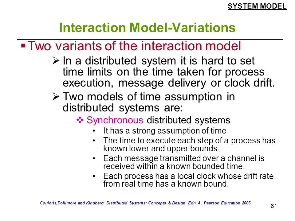 Interaction Model-Variations