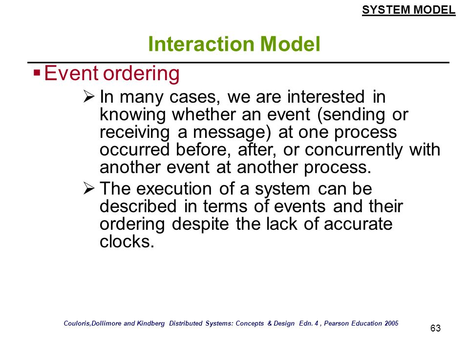 Interaction Model Event ordering