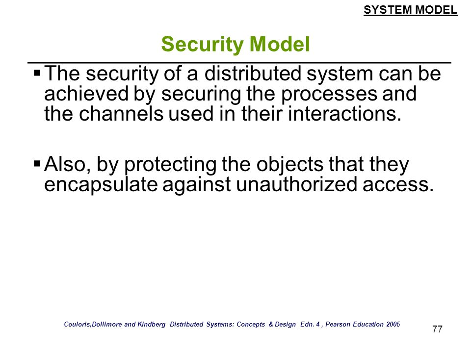 SYSTEM MODEL Security Model.