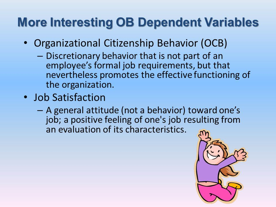 More Interesting OB Dependent Variables
