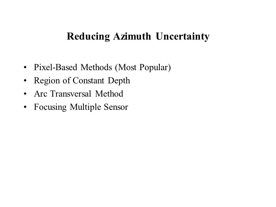 Reducing Azimuth Uncertainty