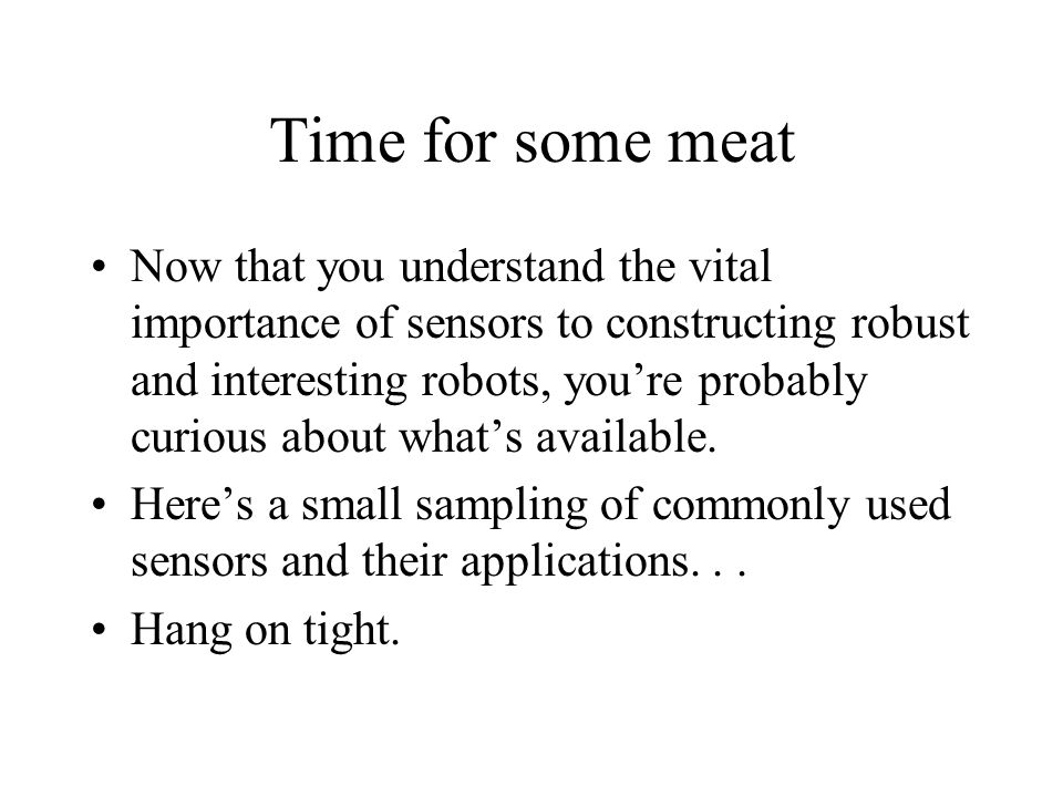 Time for some meat