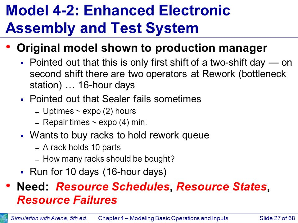 Model 4-2: Enhanced Electronic Assembly and Test System