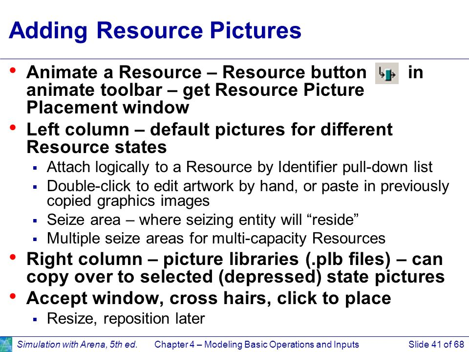 Adding Resource Pictures
