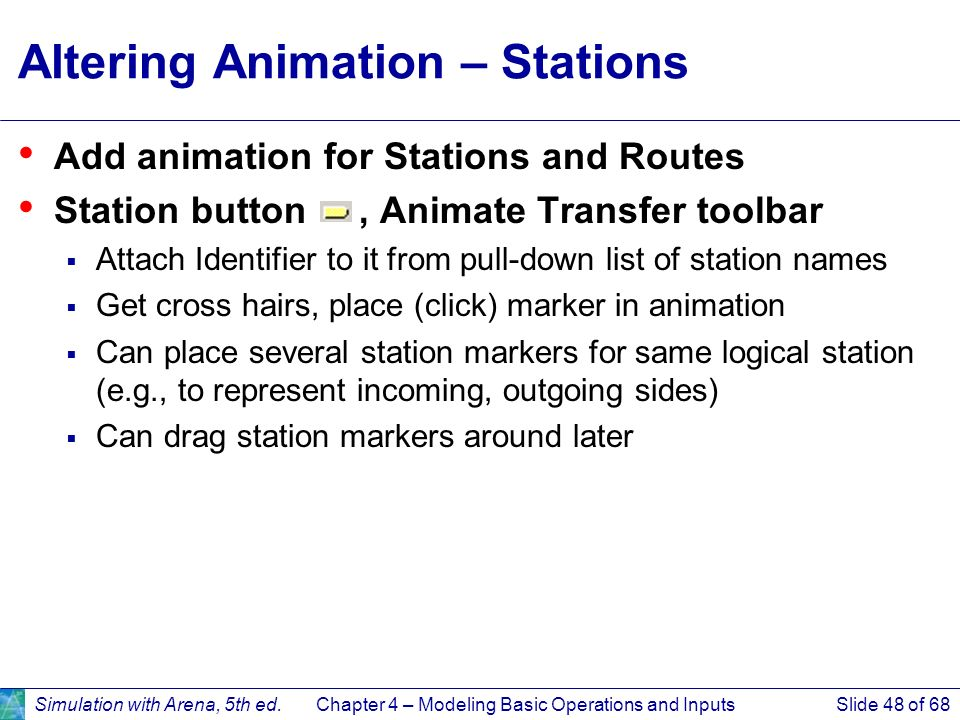 Altering Animation – Stations