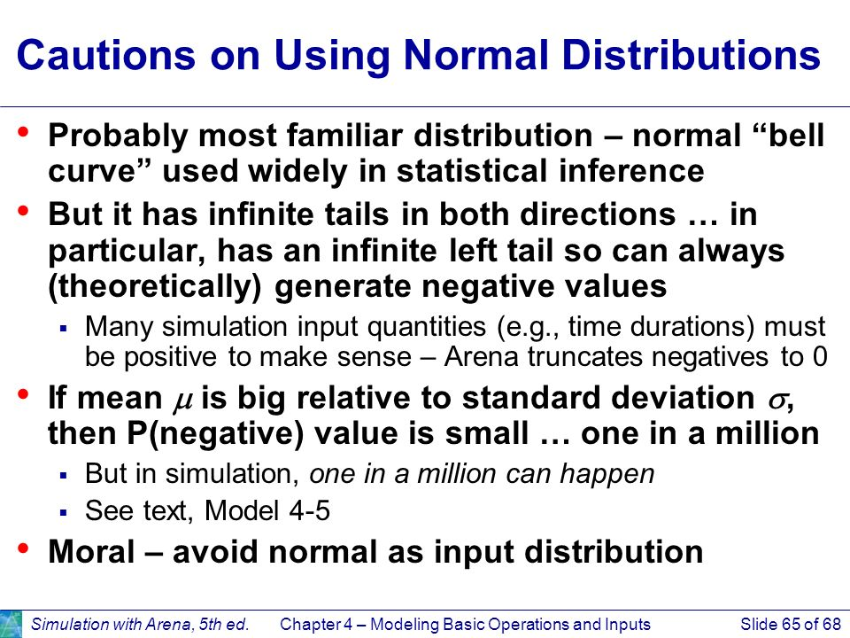 Cautions on Using Normal Distributions