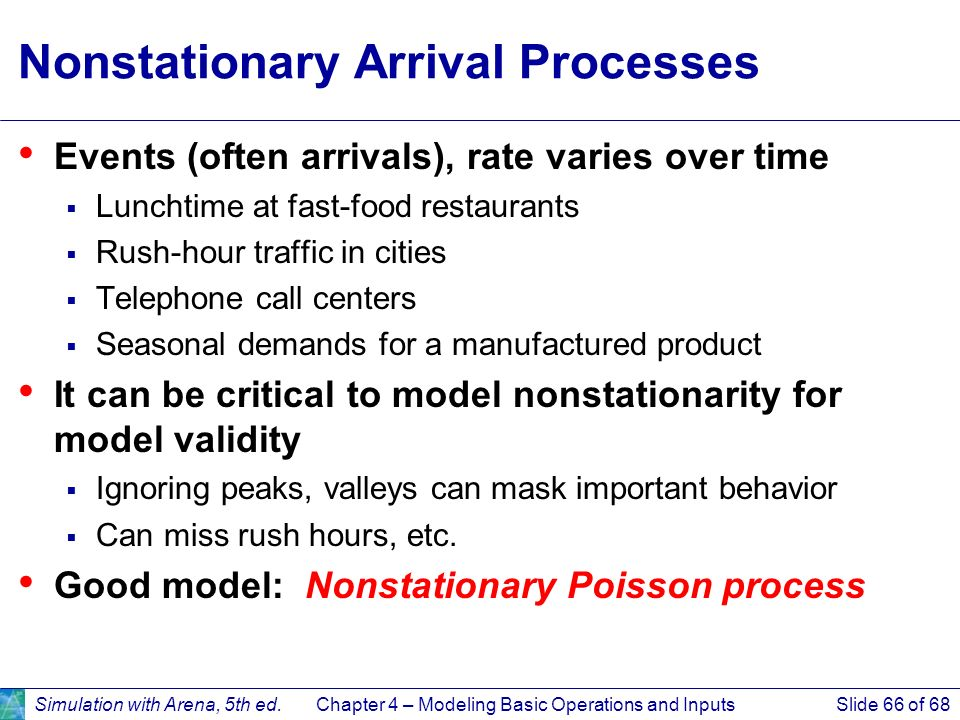 Nonstationary Arrival Processes