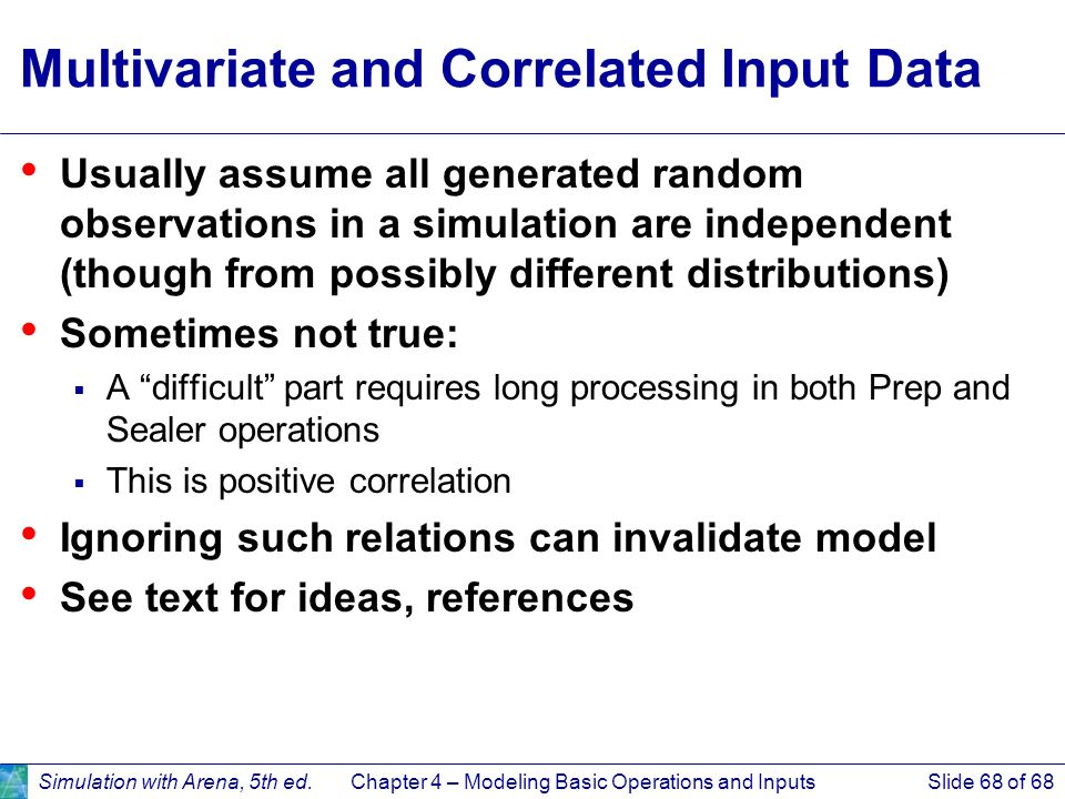 Multivariate and Correlated Input Data