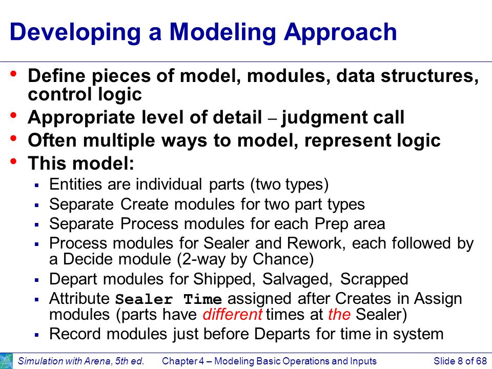 Developing a Modeling Approach