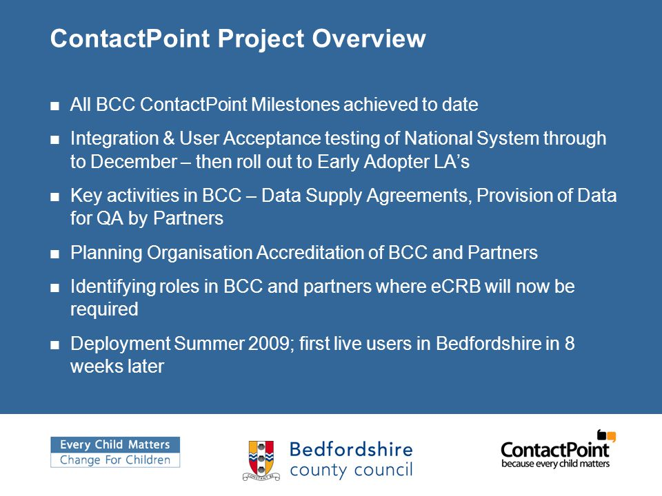 ContactPoint Project Overview