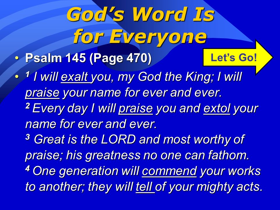 God's Word Is for Everyone
