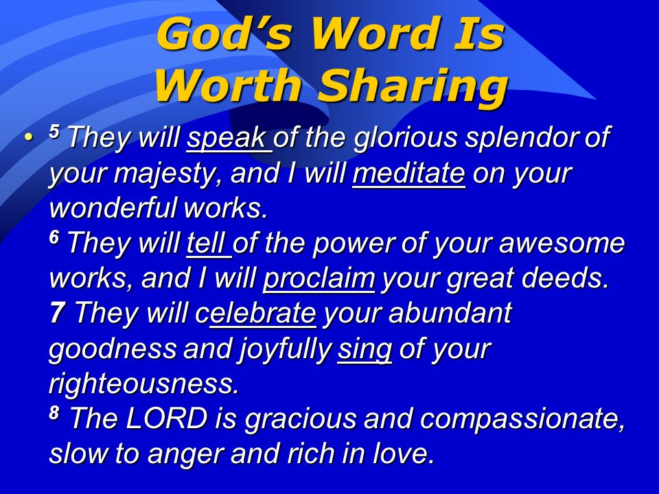 God's Word Is Worth Sharing