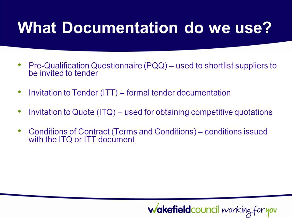 What Documentation do we use