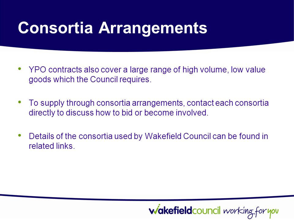 Consortia Arrangements