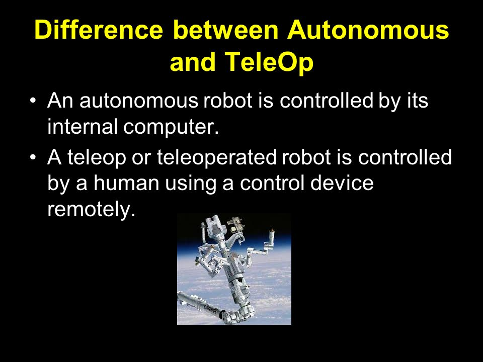 Difference between Autonomous and TeleOp