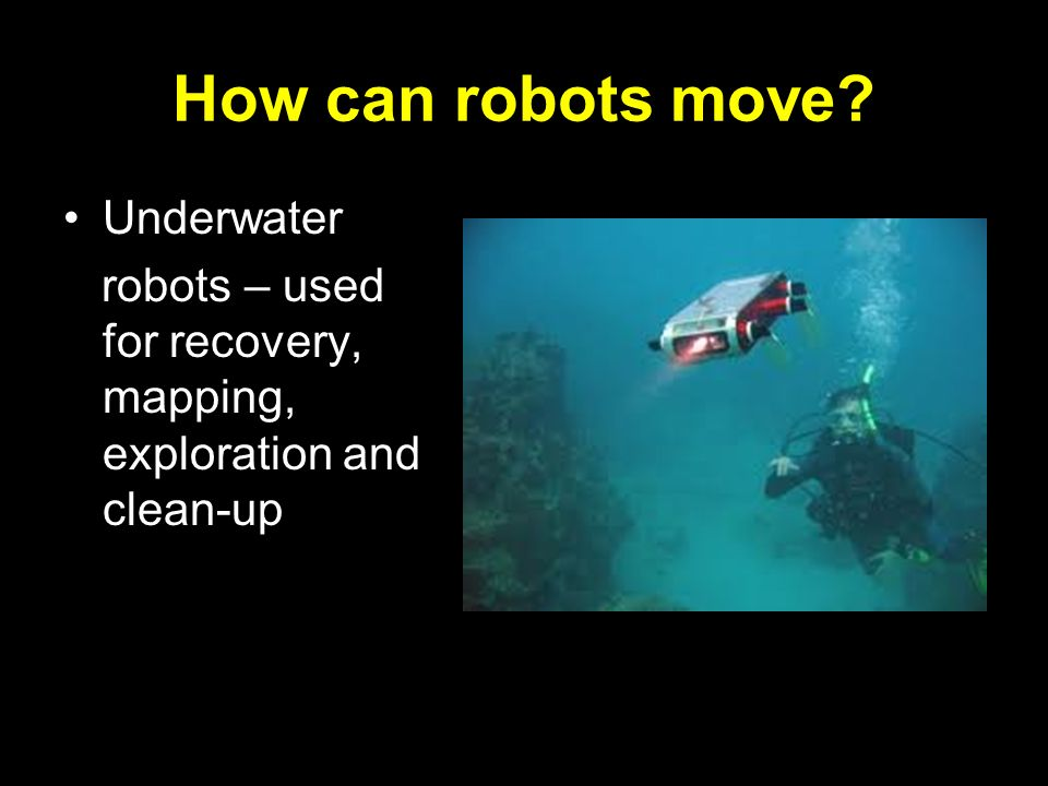 How can robots move Underwater