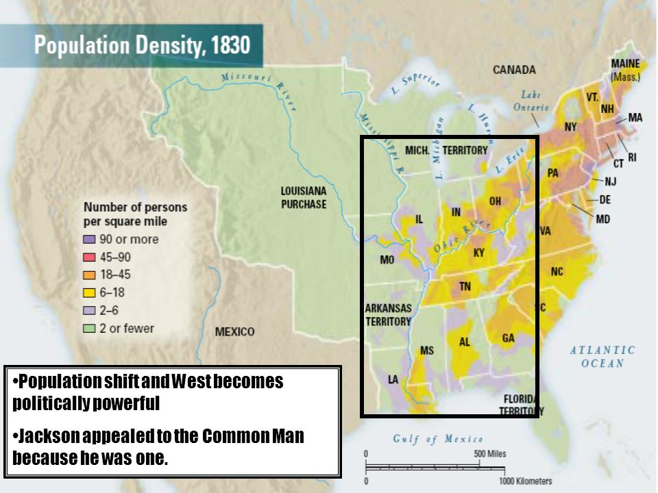Population shift and West becomes politically powerful